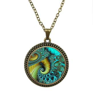 By Zoé Precious Stone Blue Chapter Tail Design Silver Necklace for Valentine's Day STORE