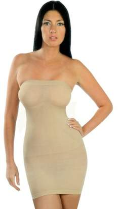 Generic Women's Strapless Full Body Slip Seamless Shaping Tube Shapewear Dress