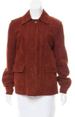 Loro Piana Cashmere Lined Leather Jacket
