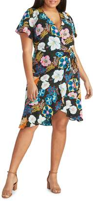 Rachel Roy Plus Undine Ruffle Wrap Dress