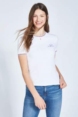 Jack Wills Womens Allaway Ringer T-Shirt - White