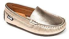 Venettini Toddler's& Kid's Gordy Chevron-Embossed Leather Loafers