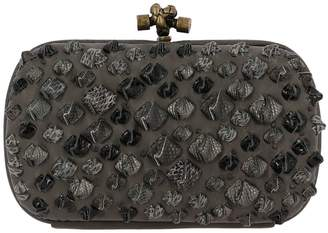 Bottega Veneta Clutch Clutch Bag Knot In Leather With Details In Genuine Leather With Python Pattern