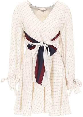 Stella McCartney Mini Dress With All-over Logo