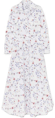 Evi Grintela Juliette Floral-print Cotton-poplin Maxi Dress