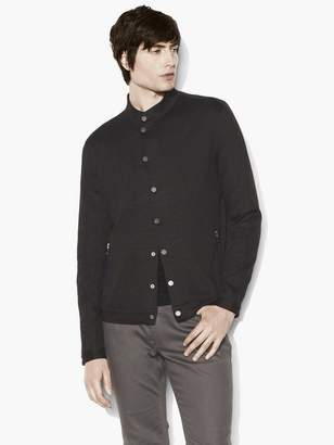 John Varvatos Snap-Front Shirt Jacket