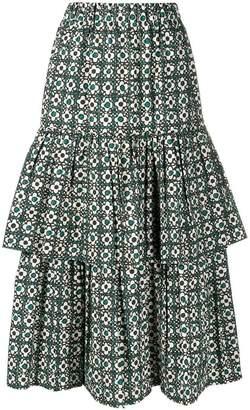 Golden Goose Miranda floral skirt