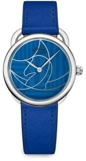 Hermes Arceau Stainless Steel& Leather Watch