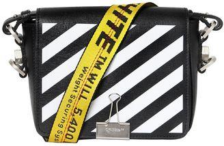 Stripes Binder Clip Leather Shoulder Bag $1,035 thestylecure.com