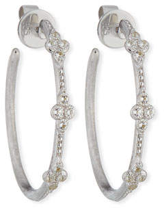Jude Frances Moroccan Quad Medium Hoop Earrings
