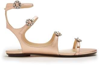 Jimmy Choo Naia crystal-embellished leather sandals