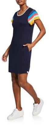 Splendid Lifeguard Striped-Sleeve T-Shirt Dress