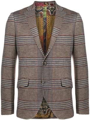 Etro houndstooth check blazer