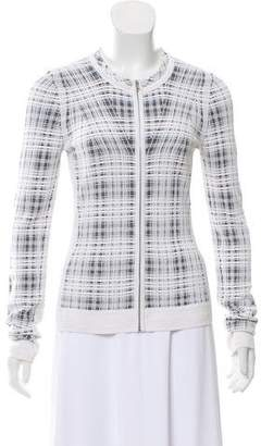 Narciso Rodriguez Patterned Zip-Up Cardigan