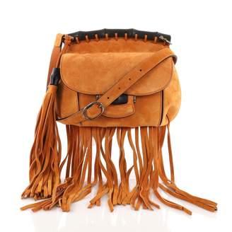 Gucci Orange Suede Handbag