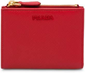 Prada saffiano zipped wallet
