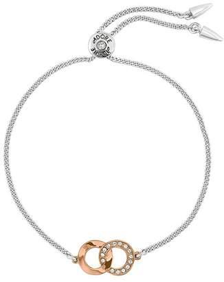 Adore Interlocking Rings Slider Bracelet