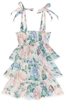 Zimmermann Kids Verity floral cotton dress