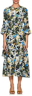 Erdem Women's Florence Floral Silk Midi-Dress