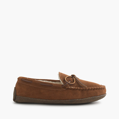 J.Crew Fleece-lined lodge moccasins