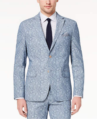 Tallia Orange Men's Modern-Fit Blue Paisley Jacket