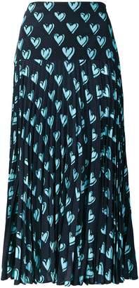Fendi heart pleated midi skirt