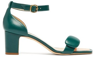 Rupert Sanderson Melissa Pebble Leather Sandals - Womens - Dark Green