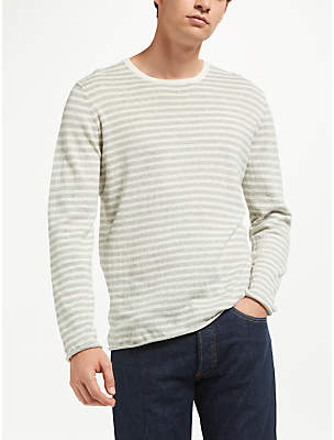 Samsoe & Samsoe Ernie Long Sleeve Stripe Jumper, Grey