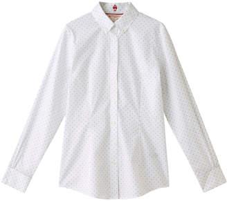Brooks Brothers (ブルックス ブラザーズ) - ブルックス ブラザーズ ストレッチコットン ドットプリント ボタンダウンシャツ