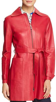 Emporio Armani Belted Leather Jacket
