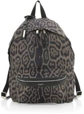 Saint Laurent Foldable City Printed Backpack
