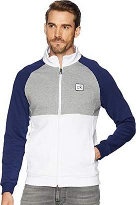 Calvin Klein Men's Full Zip Knit Shirt