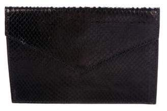 Barneys New York Barney's New York Python Envelope Clutch
