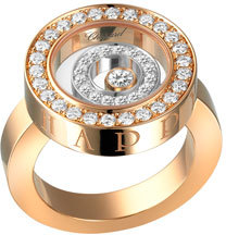 Chopard Chopard Happy Spirit Pavé Diamond Ring, Size 53