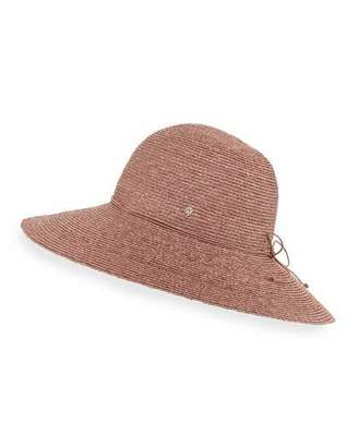 Helen Kaminski Delphina Round Raffia Sun Hat, Pink $230 thestylecure.com