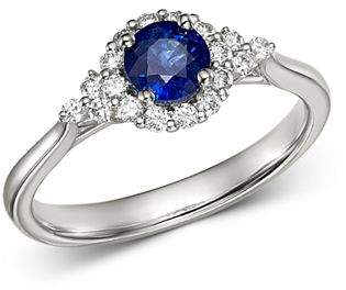 Bloomingdale's Blue Sapphire & Diamond Ring in 14K White Gold - 100% Exclusive