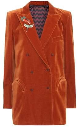 Blazé Milano Embellished velvet blazer