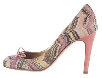 Missoni Woven Bow-Accented Pumps
