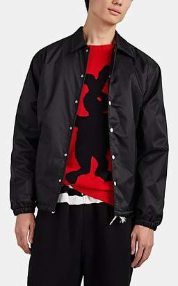 Marni Men's Logo-Appliquéd Coach's Jacket - Black