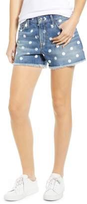 7 For All Mankind Dot High Waist Cutoff Shorts