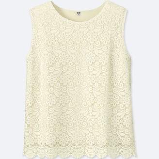 Uniqlo Women's Lace Sleeveless T-Shirt (online Exclusive)