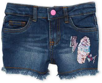 Betsey Johnson Girls 4-6x) Sequin Patch Denim Shorts
