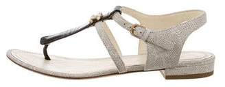 Chanel CC Thong Sandals