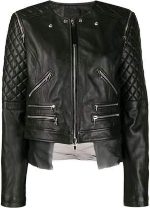 Diesel Black Gold quilted sleeves jacket