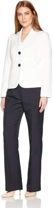 Le Suit LeSuit Women's Glazed Melange 2 Button Pant