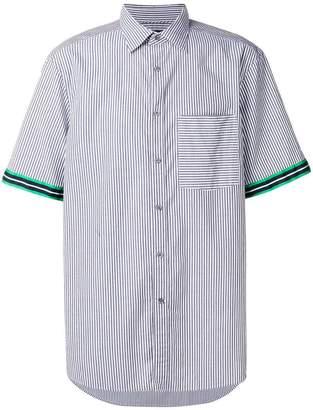 CK Calvin Klein Gano modern stripe short sleeve shirt