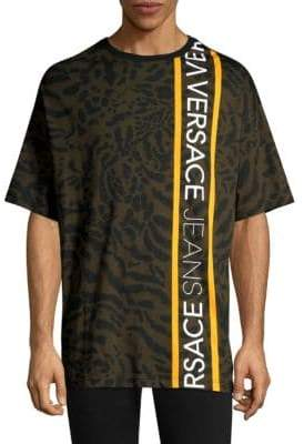 Versace Leopard Print Logo Tee