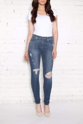 Second Yoga Jeans Distressed High-Rise Skinnies
