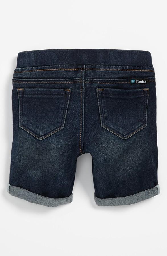 Tractor Bermuda Shorts (Toddler Girls)