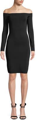 Elizabeth and James Omorose Off-Shoulder Long-Sleeve Dress